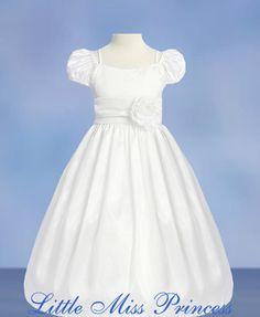 Girls white Dress beach dress pageant dress solid white plain ...
