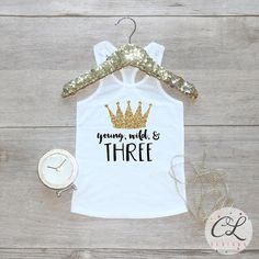 Birthday Girl Tank Top / Young Wild Three Baby Girl Clothes 3 Year Old Outfit Little Mermaid Third Birthday Shirt Birthday Girl Outfit 069 Third Birthday Girl, 3 Year Old Birthday Party, Birthday Present Diy, Cute Birthday Gift, Girl Birthday Themes, Girl Themes, Birthday Diy, Birthday Shirts, Birthday Ideas