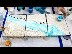 (38) We're BACK!!!! Dirty Pour on Textured Canvas - YouTube