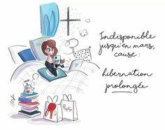 Indisponibile per ibernazione prolungata :) buon lunedì! - Art by Magalie Foutrier