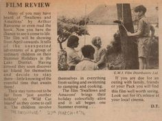 A film review of 'Swallows & Amazons' (1973) in 'The Brownie'