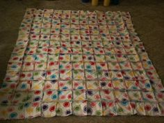 Birthday Gift - Rag Quilt for co-worker (front)