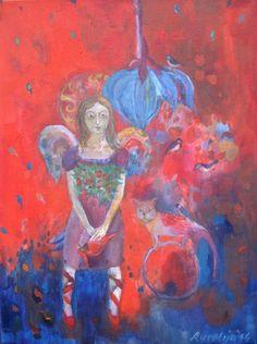"Saatchi Online Artist Aurelija  Kairyte -Smolianskiene; Painting, ""Painting - The peacefulness - oil painting on canvas"" #art"