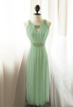 Egyptian Goddess Absinthe Mint Vineyard Green by RiverOfRomansk, $198.85....summer wedding coming up, could this be the dress?