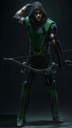 the legendary green arrow Dc Comics Heroes, Arte Dc Comics, Dc Comics Characters, Marvel Comics, Injustice 2, Green Arrow Cosplay, Green Arrow Comics, Detective Comics 1, Arrow Black Canary
