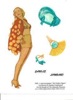Carole Lombard Paper Doll | eBay