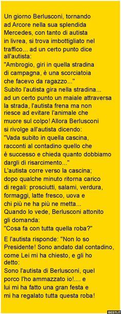 Un giorno Berlusconi, tornando ad Arcore