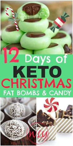 18 Holiday Keto Candy Recipes (Keto Treats) - Keto / Low Carb Diet Recipes - 12 Christmas fat bombs and holiday keto sweet treats that'll rock your healthy holidays! Keto Christmas desserts and keto candy makes it easy to stick to your ketogenic diet! Low Carb Candy, Keto Candy, Low Carb Sweets, Keto Cookies, Candy Cookies, Chip Cookies, Dessert Haloween, Keto Postres, Low Carb Meal