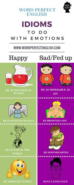 Idioms to do with emotions #learnenglish