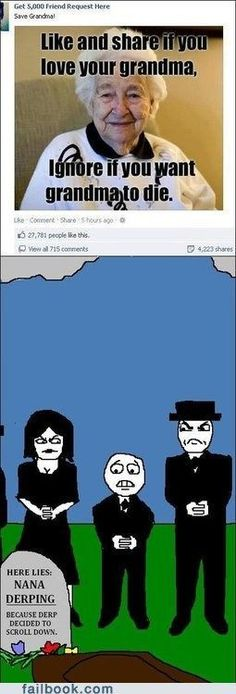 Facebook victims | I love, Grandmothers and Pictures of | favorite comics | Pinterest
