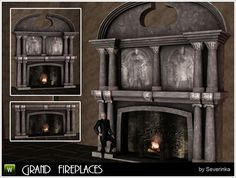 Grand fireplace by Severinka - Sims 3 Downloads CC Caboodle