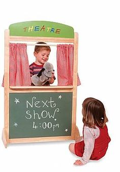 Lovely toddler puppet theatre