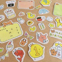 ハンドメイドマーケット+minne(ミンネ)|+ベビー♡アルバムクラフト Doodle Icon, Doodle Art, Cartoon Sketches, Baby Album, Cute Doodles, Hobonichi, Friend Birthday, Planner Stickers, Line Art