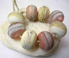 Handmade Lampwork Glass Beads  Organic Rounds  by mermaidglass, $24.00