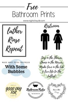 10 Free Bathroom Printable