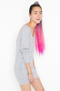 Cool pink hair!