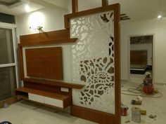new latest partition gate design ,morden partition design gallery Modern Tv Unit Designs, Gate Designs Modern, Modern Tv Wall Units, Wall Unit Designs, Living Room Tv Unit Designs, Bedroom Cupboard Designs, Lcd Panel Design, Partition Design, Living Room Partition