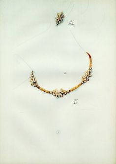 Necklace - (Cartier) Set of Jewels Archive Document — documentation published in a vintage periodical