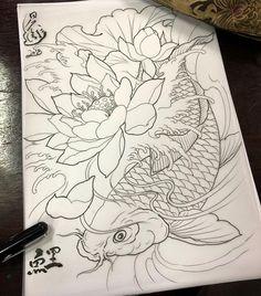 鯉魚 wonder woman sweater for sale - Woman Knitwear and Sweaters Japanese Koi Fish Tattoo, Koi Fish Drawing, Japanese Tattoo Designs, Fish Drawings, Tattoo Drawings, Tattoo Ink, Asia Tattoo, Japan Tattoo, Koi Dragon Tattoo