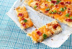 """Fully Loaded Cauliflower Garlic """"Bread"""" from @kitchenmagpie"""