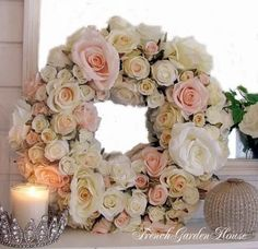 rose wreath gorgeousness