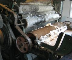 Cotton carding machine at Slater Mill in Pawtucket, RI