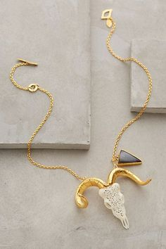 Lace Ram Necklace anthropologie.com #anthrofave