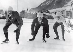 What Skaters, Ski Jumpers, and Curlers Looked Like at the First Winter Olympics…
