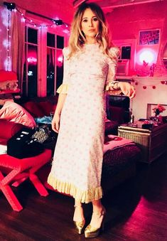 Juno Temple wearing dress by Susie Bick / The Vampire's Wife New Dress, Dress Up, The Vampires Wife, Festival Dress, Flower Festival, Flattering Dresses, Urban Outfits, Dress Brands, Celebrity Style