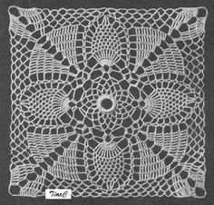 Totally Free Crochet Pattern Blog - Patterns: Pineapple Square 739 - Chair Back Set, Place Mat, Pillow Free Crochet Patterns