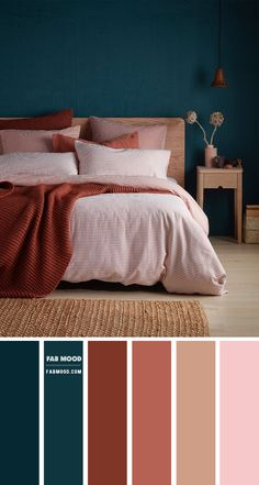 Small Apartment Decorating, Decorating Small Spaces, Decorating On A Budget, Bedroom Color Schemes, Bedroom Colors, Green Colour Palette, Color Palettes, Wedding Themes, Wedding Colors