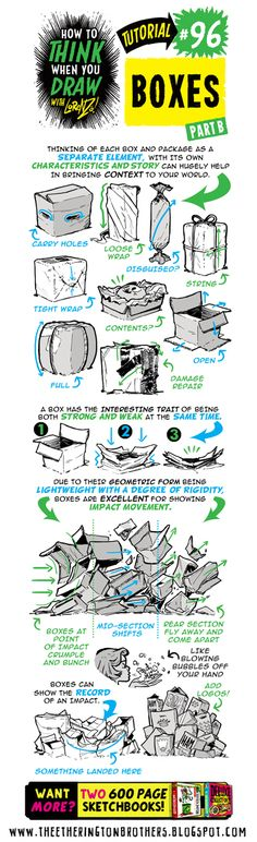 Drawing In Today's tutorial is on how to draw BOXES! I recommend combining this with my How to draw IN tutorial! How to THINK when you draw B. 3d Drawing Techniques, Drawing Skills, Drawing Lessons, Drawing Tips, Drawing Reference, Reference Images, Background Drawing, Cartoon Background, You Draw