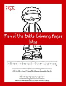 FREE Men of the Bible Coloring Page-Silas. I hope you enjoy sharing the story – and the secret – of Silas with your children!