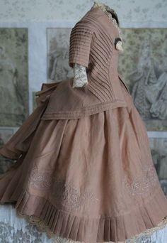 "Antique vintage silk  French fashion dress  doll   15-16"" | Dolls & Bears, Dolls, Clothes & Accessories | eBay!"