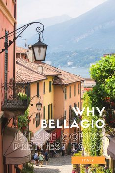 how to experience the best of Bellagio in 1 day. Visiting Lake Como? There are 3 pretty lake towns that you can reach by ferry - read our Italy travel guide for essential itinerary planning tips and recommendations for things to see and do! #shershegoes #italy, italy travel guide, #lakecomo, #bellagio