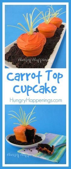 Easter Carrot Top Cupcakes