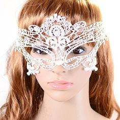 Hot Sale sell 1Pcs Halloween Masquerade Sexy Lady Lace Mask for Party 7K3J