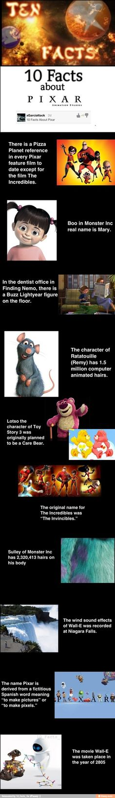 10 Facts about Pixar / iFunny :)