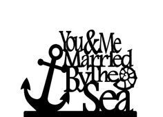 You & Me Married By The Sea Wedding Cake Topper by 1TheCherryOnTop