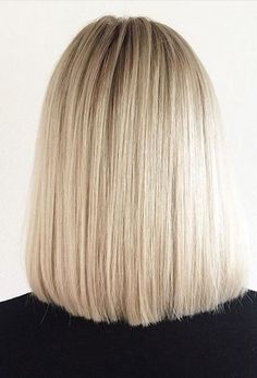 Don't be afraid to be blunt. Blonde color and bob hairstyle by Hedil Ameri.