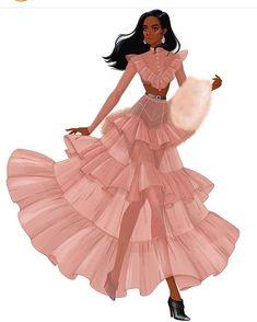 Fashion Drawing Dresses, Fashion Illustration Dresses, Dress Design Sketches, Fashion Design Drawings, Fashion Model Sketch, Fashion Sketches, Fashion Drawing Tutorial, Most Beautiful Dresses, Fashion Figures