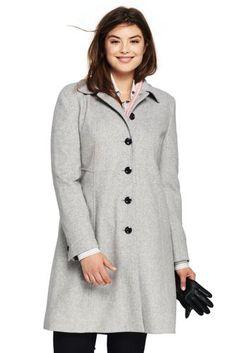 5b2e06b7cb3e1 Women s Plus Size Petite Unique Wool A-line Coat My Size