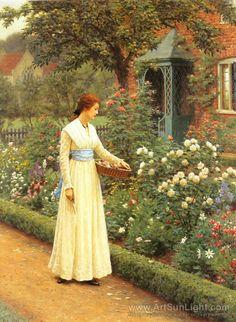 Summer Roses - Edmund Blair Leighton