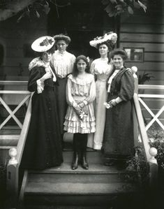 lovely ladies, early 1900s