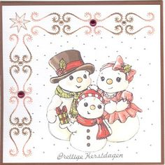 Voorbeeldkaart - kerst 2012 - Categorie: Borduren - Hobbyjournaal uw hobby website