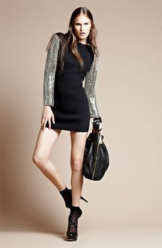 Cocktail Event: Parker Embellished Sleeve Cutout Dress #Nordstrom #Holiday