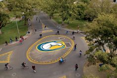 Bike circles at UC Davis