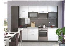 Kuchyně VALERIA 180/240 cm s pracovní deskou, bílá/wenge DOPRODEJ