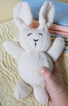 Free knitting pattern for bunny rabbit plush toy softie