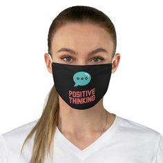 Positive Thinking Good Vibe Face Mask Funny Face Mask, Face Masks, Nose Mask, Gato Animal, Sigma Kappa, Delta Gamma, Theta, Chi Omega, Capes